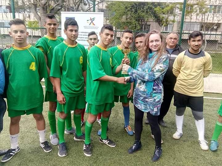 """Отборът на ПГАТ """"Цанко Церковски"""" стана първенец в турнир по футбол на малки врати"""